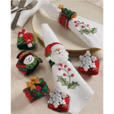 Bucilla-86262-Christmas-Napkin-Rings-Felt-Applique-Kit-2-1-2-Inch-by-2-Inch-Set-of-6