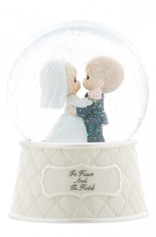 "Precious Moments ""To Have And To Hold"" Musical Water Globe Figurine"