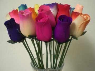 Mixed Color Rose Buds Artificial Flower