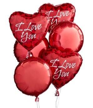 """I Love You"" Balloon Bunch"