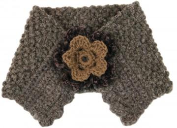 Handmade Artisan Alpaca Blend Yarn Neckwarmer - Toffee Beige