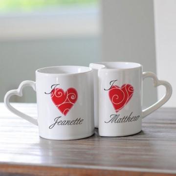 Personalized Heart Mugs