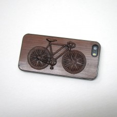 Wood-iPhone-5-5s-Black-Case-with-Bicycle-Carved-on-Wood-in-3D