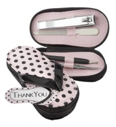 Pink-Polka-Flip-Flop-Pedicure-Set