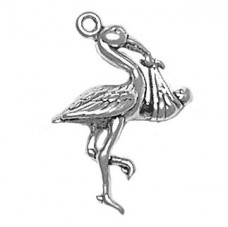 Sterling-Silver-Stork-with-Baby-Charm-Parents-Jewelry