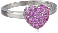 Sterling-Silver-Created-Pink-Sapphire-Cluster-Heart-Ring