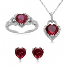 Sterling-Silver-Heart-Created-Ruby-and-Diamond-Ring-Pendant-Necklace-and-Earrings-Box-Set