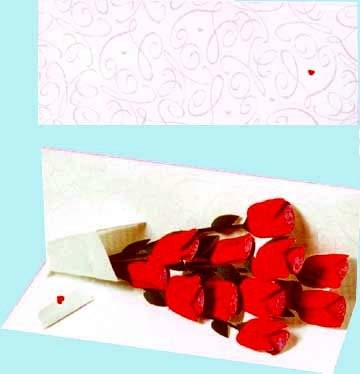 Greeting Card with Rose Bouquet