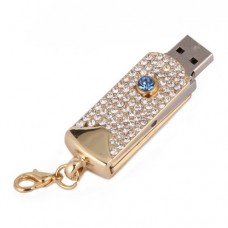 HDE-USB-8GB-Flash-Drive-Memory-Gold-Dog-Tag-with-Aquamarine-Gem-Jewelry-Necklace-Pendant