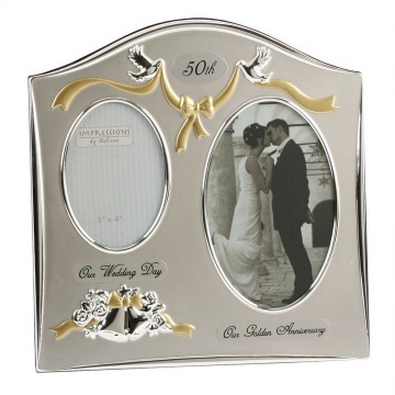 Tone Silverplated Wedding Anniversary Gift Photo Frame -