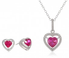 Sterling-Silver-Heart-Created-Ruby-Pendant-and-Earring-Box-Set