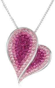 Carnevale-Sterling-Silver-Pink-Heart-with-Swarovski-Elements-Pendant-Necklace
