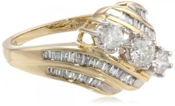 10k Yellow Gold Diamond Anniversary Ring