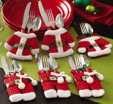 Collections-Etc-Santa-Suit-Christmas-Silverware-Holder-Pockets