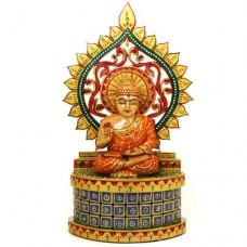 Hand-Carved-and-Hand-Painted-Wooden-Buddha-Statue