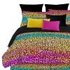 Street Revival Rainbow Leopard Comforter Set, Multi