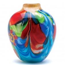 Floral-Fantasia-Beautiful-Art-Glass-Vase