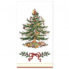C-R-Gibson-16-Count-Guest-Towel-Dinner-Napkin-Christmas-Holly-and-Ribbon