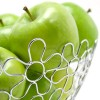 Chrome Flower Fruit Bowl Holder Steel Wire Basket Kitchen