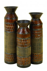 Metal-Vase-Set-Of-3-Small-Sized-Table-Decor-by-Benzara