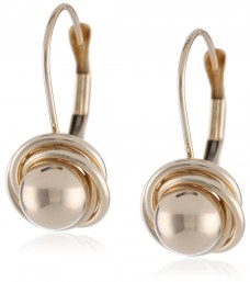 Duragold-14k-Yellow-Gold-Ball-with-Three-Ring-Earrings