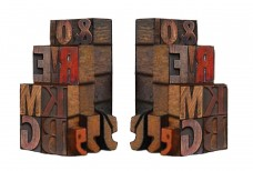 Ohio-Wholesale-Vintage-Letterpress-Bookends-from-our-Everyday-Collection