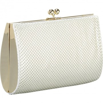 Hard Sided Mesh Clutch By Whiting and Davis