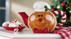 Collections-Etc-Smiling-Gingerbread-Collectible-Holiday-Tea-Pot