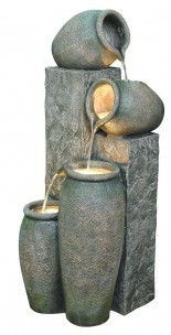 Alpine-Four-Pitcher-Pouring-Indoor-Outdoor-Water-Fountain