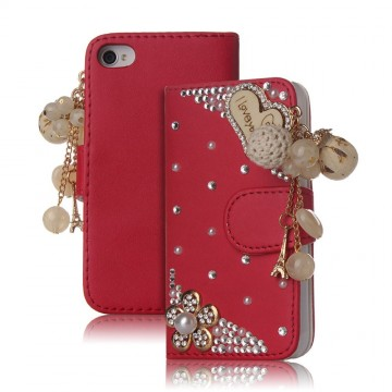 Leather Flip Case With Card Holder Design (Apple iPhone 4 and 4S)