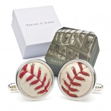 Tokens-Icons-MLB-Game-Played-Baseball-Sterling-Silver-Cufflinks