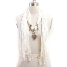 Solid-White-Color-Heart-Charm-Decorated-Pashmina-Scarf