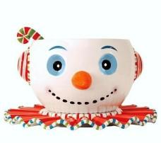 Glitterville-Huge-Christmas-Snowman-Punch-Bowl-Tray-Ladle-3-piece-Set