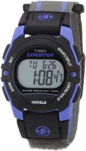 Unisex T49660 Expedition Classic Digital Chrono Alarm Timer Blue/Gray Fast Wrap Velcro Strap Watch