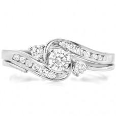 10k-White-Gold-Round-Diamond-Ladies-Swirl-Bridal-Engagement-Ring-Matching-Band-Set