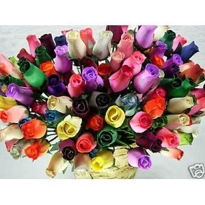Artificial Rose Bunch by Wooden Roses