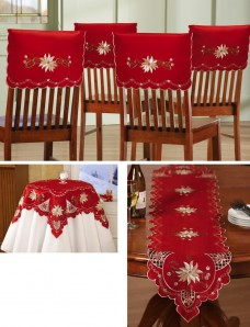 Collections-Etc-Christmas-Elegance-Embroidered-Holiday-Table-Linens-Runner