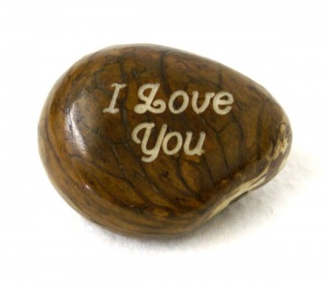 """I Love You"" Engraved Tagua Nut"