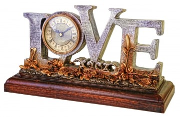 Antique looking Love Mantel clock